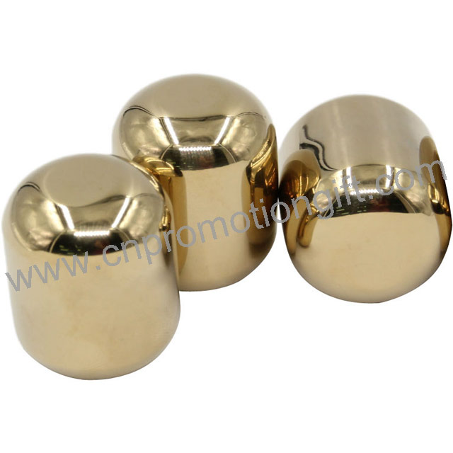 Promotional Ellipse Shaped Ice Stone Stainless Steel Whisky Stones For Birthday Gift