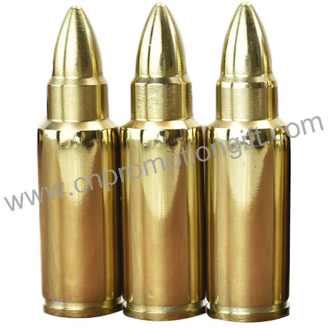 Souvenir Gift Gold Stainless Steel Amazing Bullet Whiskey Stones For Cool Wine