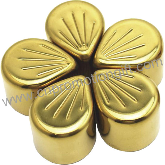 Hot Items Wedding Gifts Gold Flower Type Whiskey Ice Stone For Wine Accessories