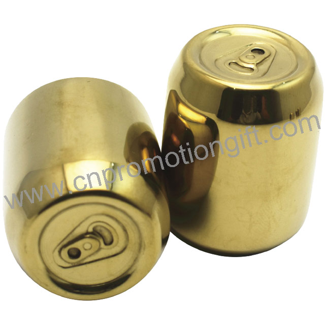 Small Gift Wholesale Gold Stainless Steel Ring-Pull Can Whiskey Ice Cube For Wine
