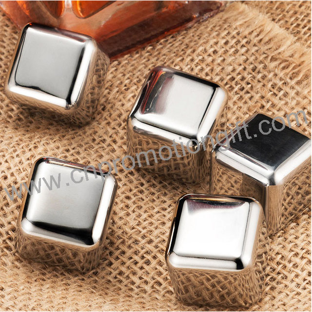 Best Selling Gadgets 27mm Square Shape Steel Ice Cubes Whiskey Stones For Party