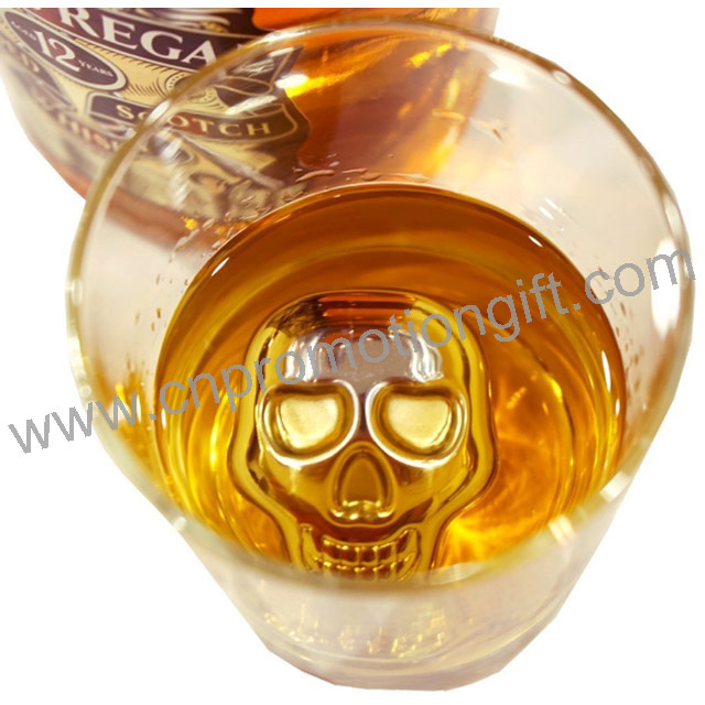 Customized Logo 50mm Extra Large Whiskey Stones Steel Ice Cubes For Business