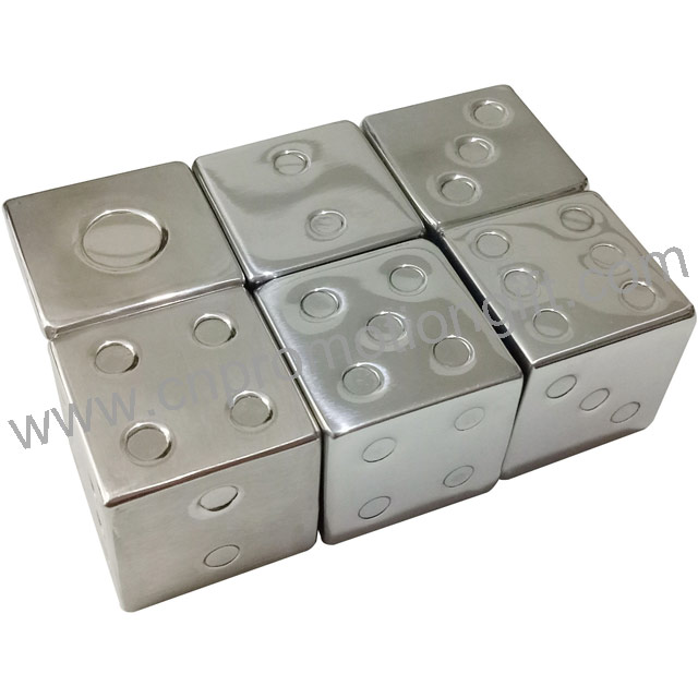 New 2019 Reusable Stainless Steel Cold Stones Whiskey Ice Dice Cube For Wine Cooler