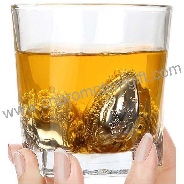 New Product Ideas 2019 Stainless Steel Rugby Stone Cubes Whiskey Ice Stones For Wine