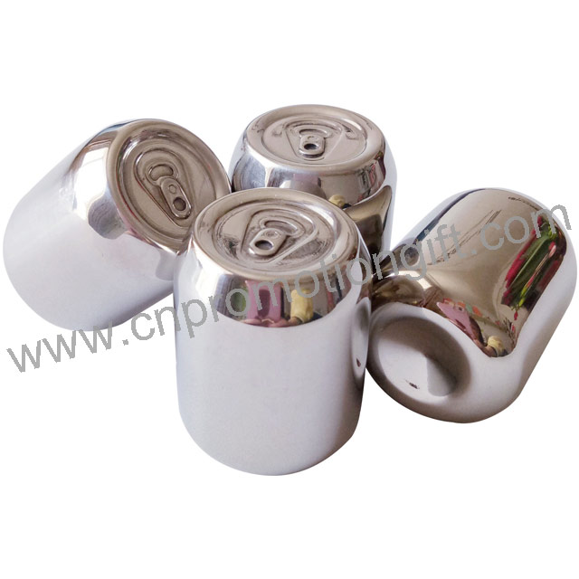 Pop-Top Can Shaped Stone Ice Cube Stainless Steel Whiskey Stones For Drink Chiller