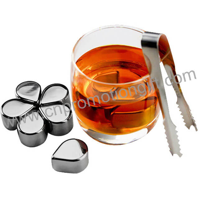 Wholesale Market Customized Designs Metal Ice Cubes Whiskey Stone Steel For Woman