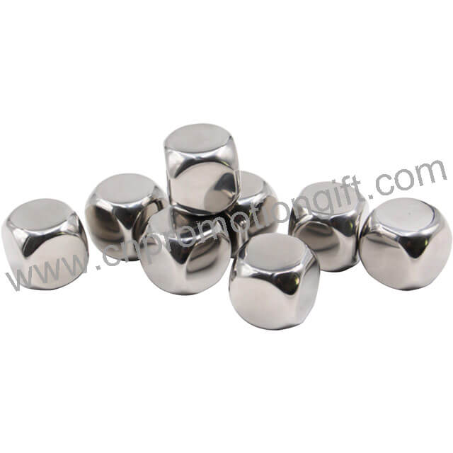 Customized Shape Chill Rocks Whiskey Stones Stainless Ice Cube For Festival Promotion