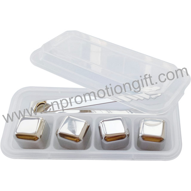 New Product Ideas Stainless Steel Whisky Gift Set Reusable Ice Cubes With Ice Tong