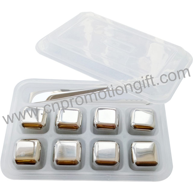 Popular Products 2019 Square Shape 8pcs Whiskey Stone Set With Steel Ice Tong