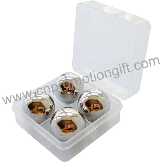 PP Box Set Stone Whiskey Balls Ice Cube Stainless With Customized Designs Logo