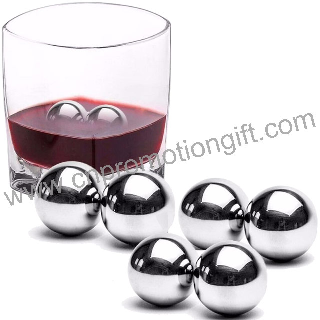 Advertising Products Ice Cube Set Tong Stainless Steel Whiskey Balls For Cool Chiller