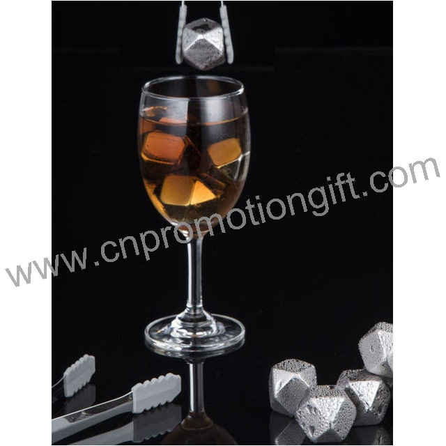 Most Popular Items Stainless Steel Ice Clip Whiskey Stone Sets With Logo Cube