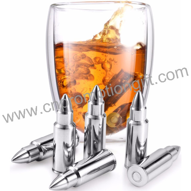 Hot 2019 Ice Cube Bullet Customized Wallet Bullets Shaped Whiskey Stones With Gift Box