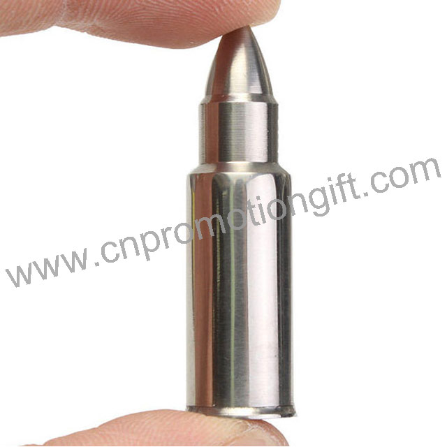 Gift 2019 Stainless Steel Bullet Shaped Customized Whiskey Ice Stones For Wine Cooler