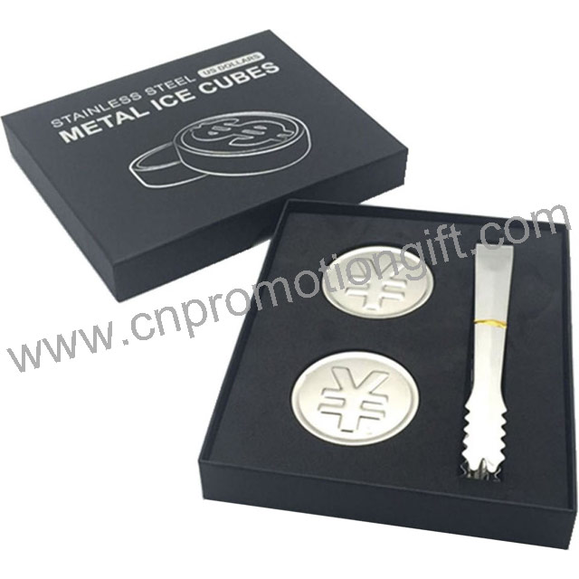Competitive Coin Shaped Beer Cooler Ice Stones Whisky Cube With Customised Gift Box