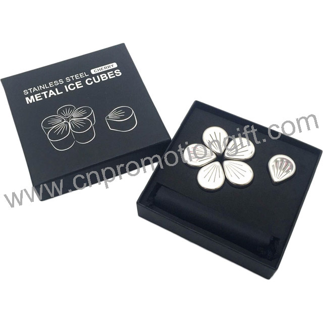 Best Wine Set Flower Petal Shaped Whiskey Gift Box Ice Cube Metal For Wedding Gifts