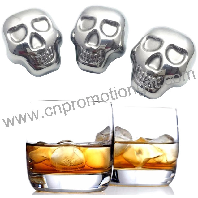 2019 Wholesale Stainless Steel Cubes Whiskey Stone Sets Ice Cooler With Gift Box