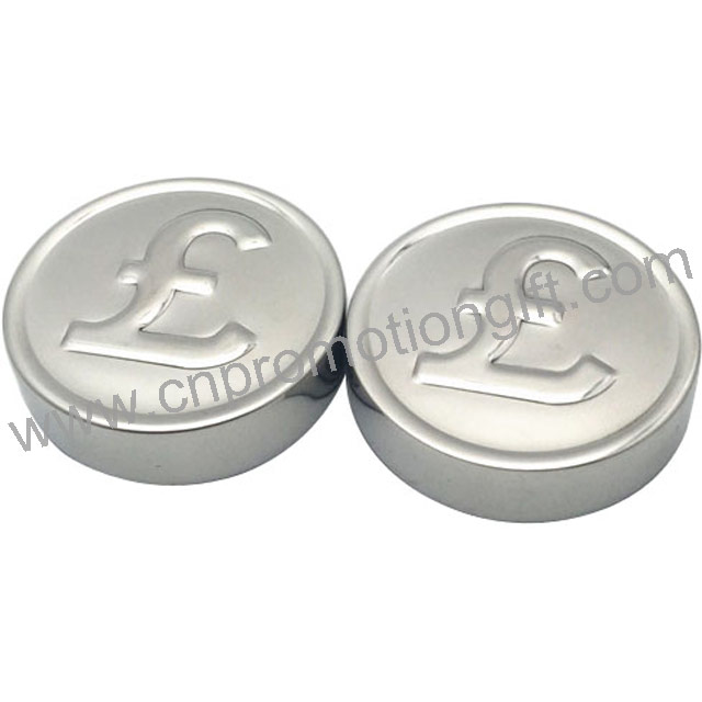 Promotional Items Pound Coin Shaped Whiskey Drink Round Ice Cube With Custom Logo